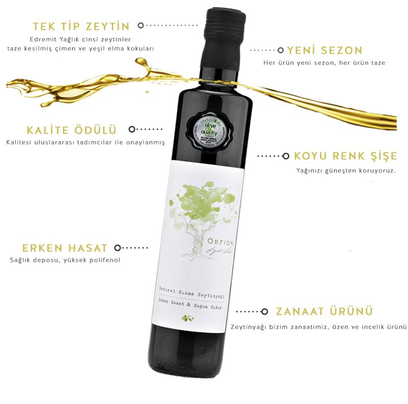 SPECİAL EDITION - EARLY HARVES & COLD PRESSED EXTRA VIRGIN OLIVE OIL - 500ML