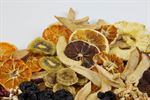 Oven-dried fruits, infused fruits, fruit pree pieces bake-safe and choco-safe.